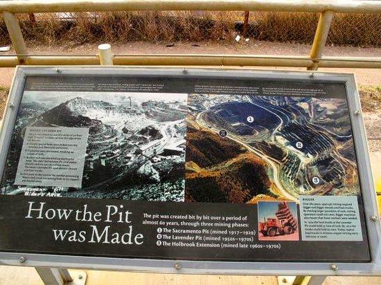 Eldorado Suites Hotel: Historic Mining Pit Info