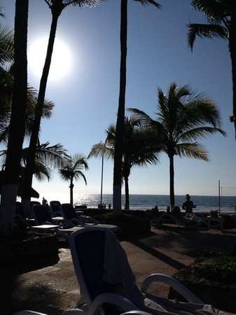 Occidental Nuevo Vallarta: View from my beach chair by the pool