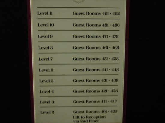Sheraton Athlone: Guess your floor