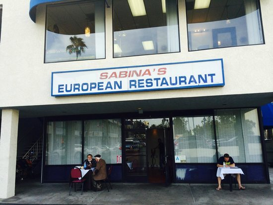 Sabina's European Restaurant : From the outside