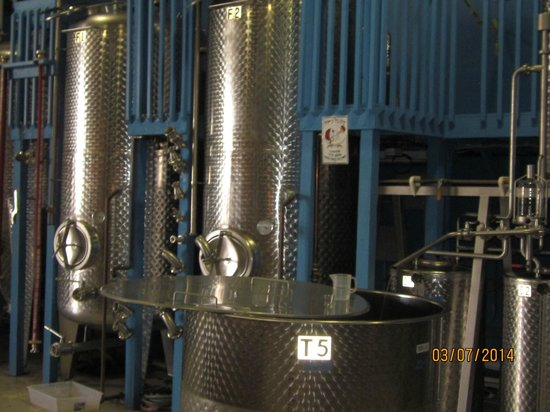 Siesta Key Rum: molasses mash tanks