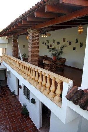 Terraza Planta Alta Picture Of Hostal Casa Blanca Comala