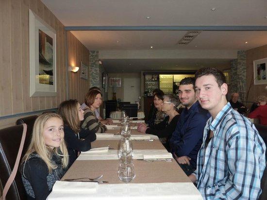 Le Saint Alys : vu de notre table sur le fond du restaurant