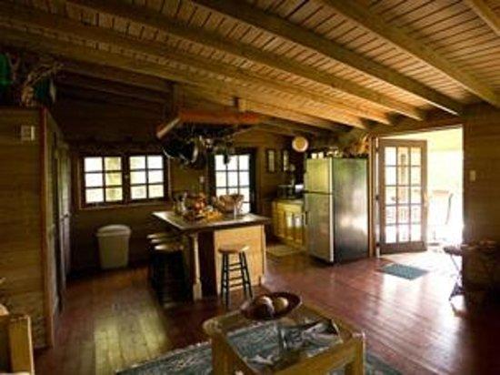 Arabian Farm Luxury Villas: Kitchen area in one of the luxury cabins