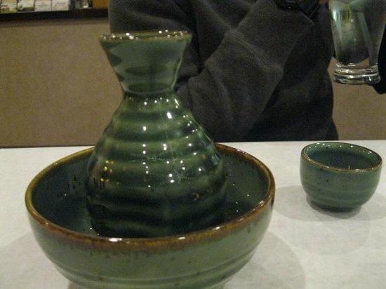 Hana Teppanyaki House : hot sake