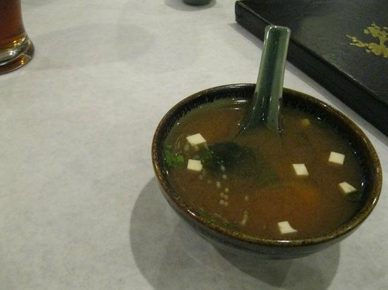 Hana Teppanyaki House : miso soup