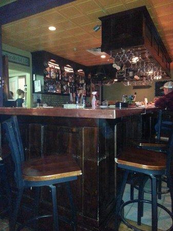 Brians Bistro: The copper bar at the Bistro