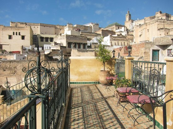 Riad Rcif : View from rooftop terrace