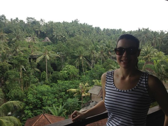 Bali Spirit Hotel and Spa: View from the Bali Spirit Hotel lobby