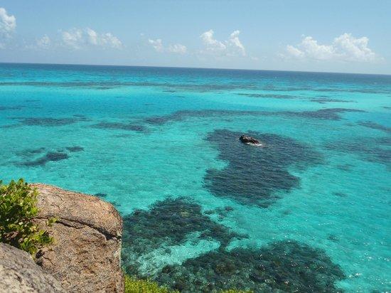 Crab Cay: foto do topo da ilha