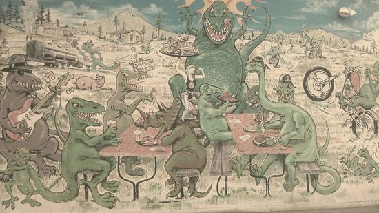 Dinosaur Bar-B-Que: Murale extérieure