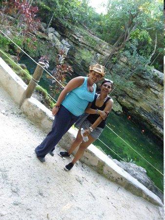 Rancho Bonanza: y al finalizar, baño relajante y tonificante en el Cenote