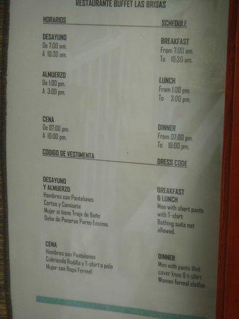 Grand Bahia Principe San Juan: Buffet Times