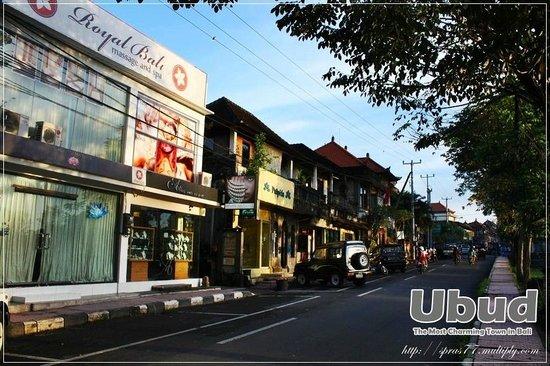 Yulia Village Inn: ร้านค้า ริม ถ. มังกี้ฟอร์เรส ไม่ไกลจาก โรงแรม