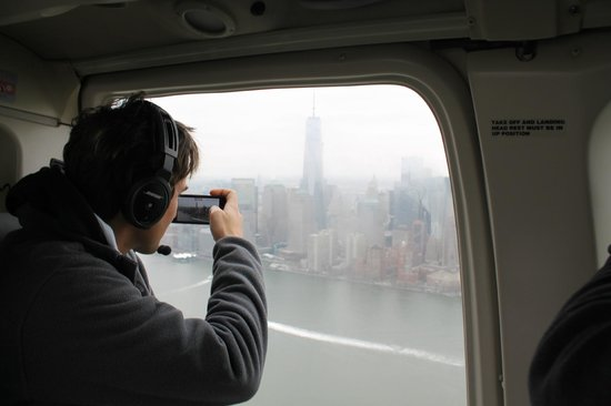Helicopter Flight Services - Helicopter Tours: View from opposite seats