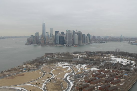 Helicopter Flight Services - Helicopter Tours: Governor Island and Financial District view