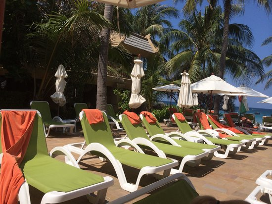 Kata Beach Resort and Spa: 8 beds reserved for over 2hrs
