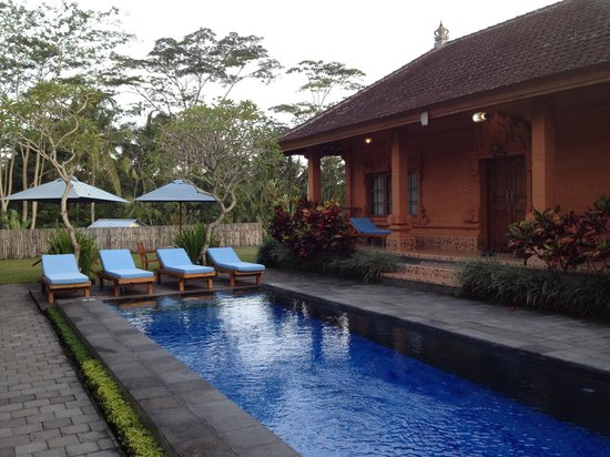 Bon Nyuh Bungalows: The lap pool and my bungalow (#3) on the right