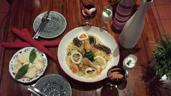 Pizzeria Amici: bay bugs and seefood