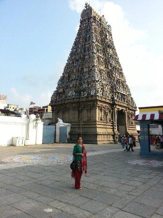 Kapaleeshwar Temple: Eastern Gopuram view from inside