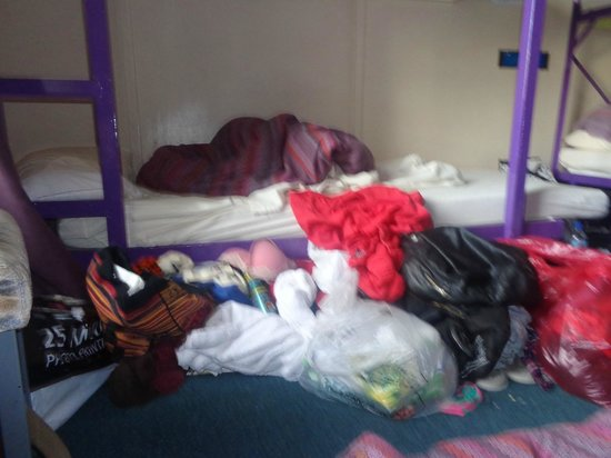 Inverness Student Hotel: Mess in room that was not cleaned over four nights of staying