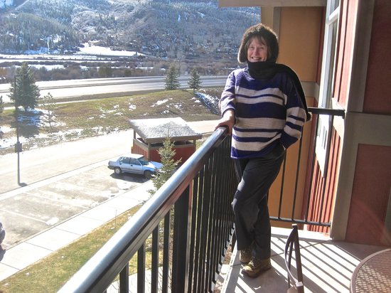 The Village at Steamboat Springs: Margaret on the balcony