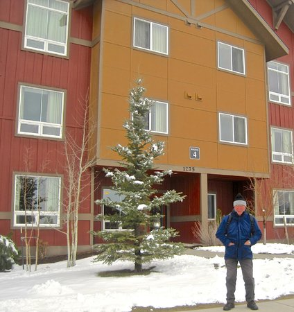 The Village at Steamboat Springs: Brian outside the apartment