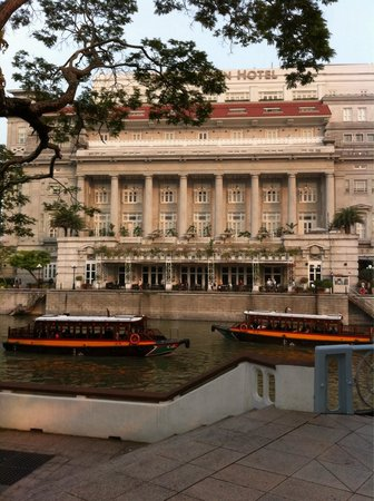 The Fullerton Hotel Singapore: From across the bridge