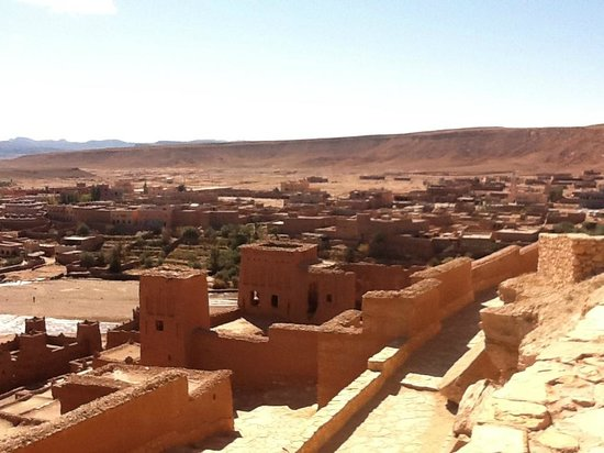 Historic Dwellings From Higher Elevation Ait Ben Haddou Morocco - Higher elevation