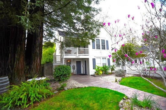Ambrose Bierce House: Hotel right on St Helena Main Street, yet with serenity of redwood tree and beautiful garden