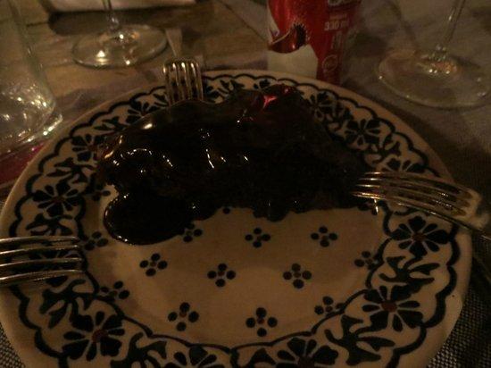 Trattoria dei 13 Gobbi : chocolate cake