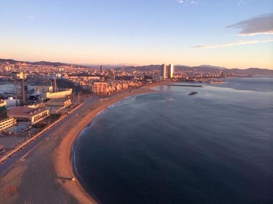 W Barcelona: Barcelona am morgen (Blick aus dem W)