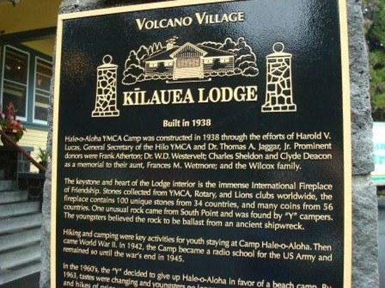 Kilauea Lodge & Restaurant : Kilauea Lodge, Old Volano Road, Volcano, Island of Hawaii, HI