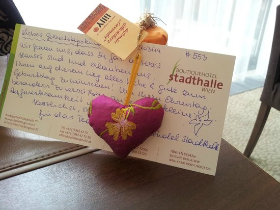 Boutiquehotel Stadthalle: Happy Birthday