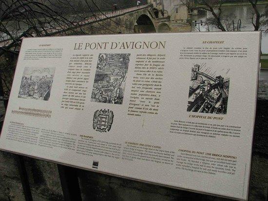 Pont Saint-Bénézet (Pont d'Avignon) : 説明板