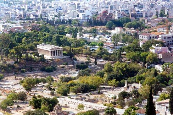 Agora: dall'acropoli col tempio