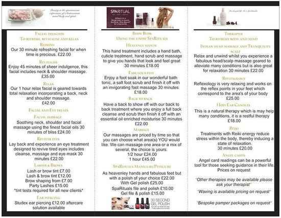 Skin & Tonic: Some of our relaxing treatments and therapies