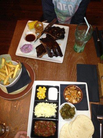 Chiquito - Croydon: Kids meal and ribs