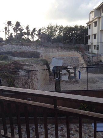 The Palms of Boracay: Another construction going on just out side my room, sad view from my balcony...