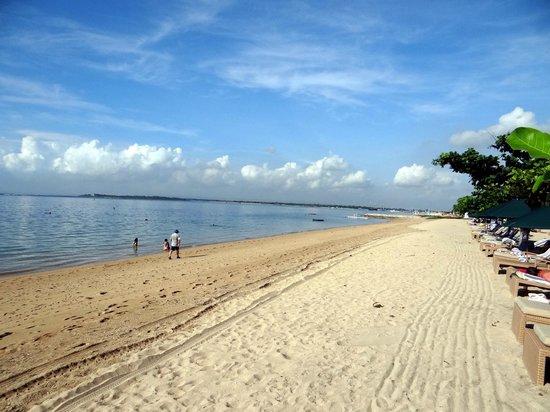 Prama Sanur Beach Bali : the hotel beach