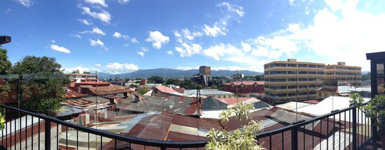 Hostel Pangea: View from the main terrasse
