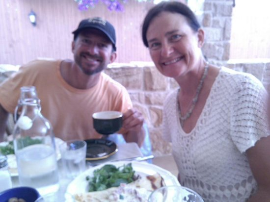 La Ferme Provencale: Lovely lunch crepes with superb coffees...beautiful!