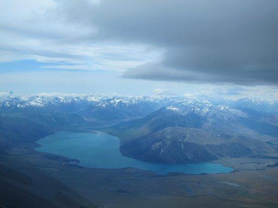 Glide Omarama : Uitzicht over de Soutern Alps