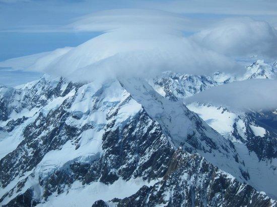 Glide Omarama : Het eindpunt: Mount Cook met loopings