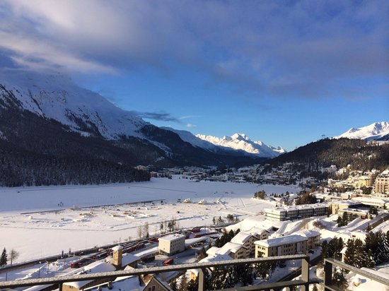 Carlton Hotel St. Moritz: View from Carlton