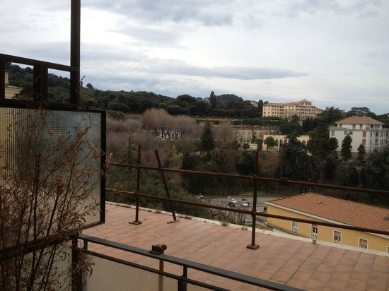 Hotel Cacciani: view towards the train station