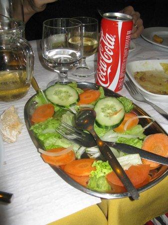 O Arco: Salade qui accompagne le plat