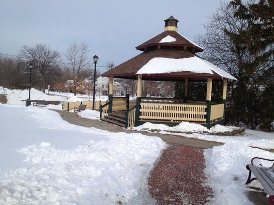 Bandstand in Webster's Veterans Memorial Park