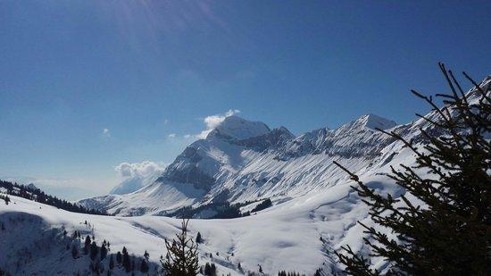Les Balcons du Mont-Blanc - Vacances ULVF: Une des belles vues que l'on peut apprécier lors des sorties raquettes