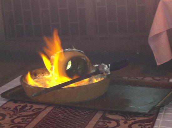 Karadeniz Kardesler Pide & Kebap Salonu: The special Kebab pot after it has been emptied